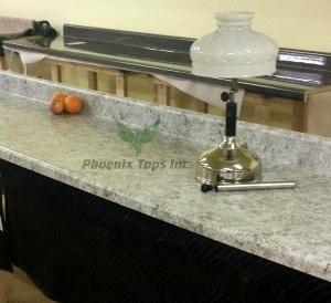 Countertop Drip Edge : White Juparana (4931-38) ? 10ft. No-Drip Edge Kitchen Countertop