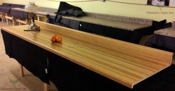 Butcherblock Maple (204-58) 10 ft. Kit Counter-Phoenix Tops Inc.